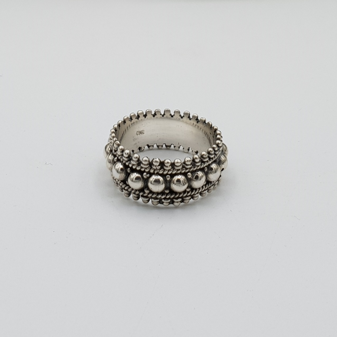 925 Sterling zilver beaded ring